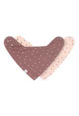 Lassig Lassig Interlock Bandana Cowl-neck, 2pcs. GOTS Dots powder Pink/Triangle cinnamon