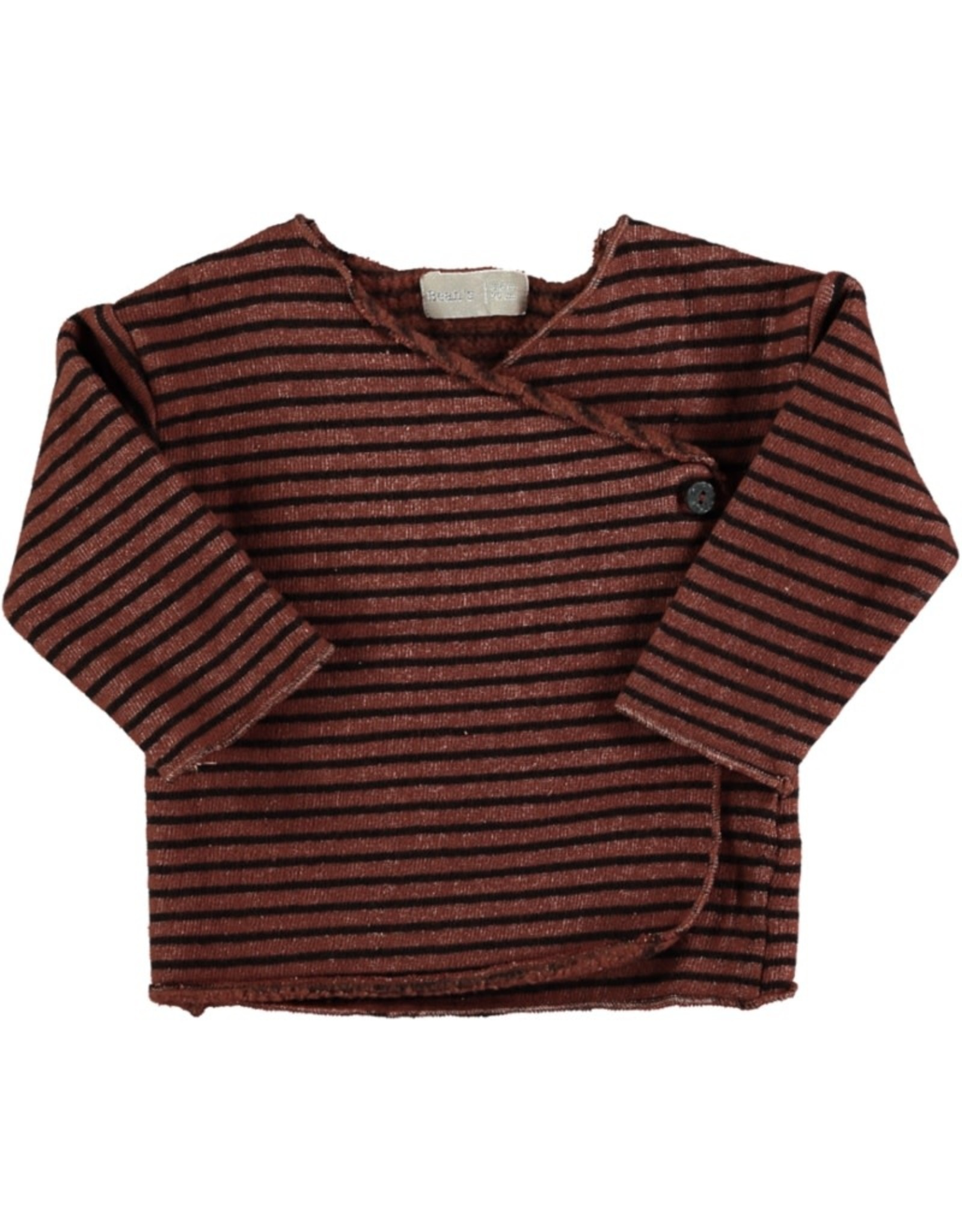 Beans Barcelona Beans Barcelona New Born T-Shirt Striped Warm Fleece
