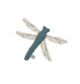 Lassig Lassig Knitted Toy with rattle & crackle, Garden Explorer Dragon-Fly Blue