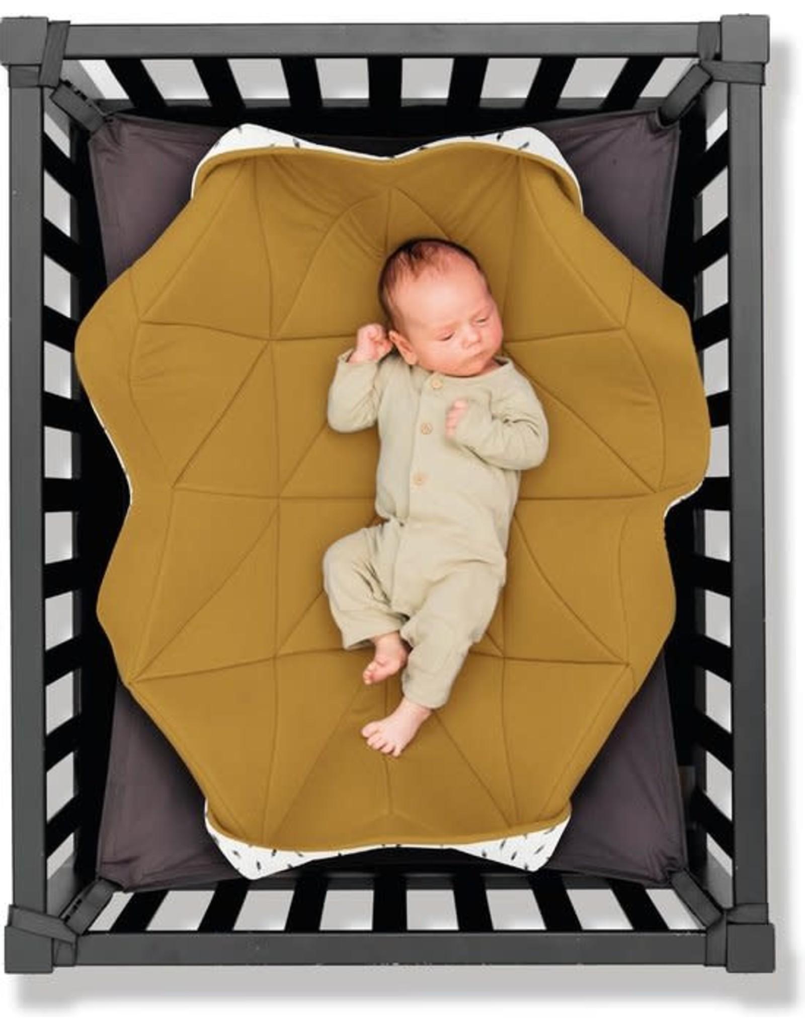 Hangloose Baby Hangloose Baby - babyhangmat / boxkleed - Ocher Feather