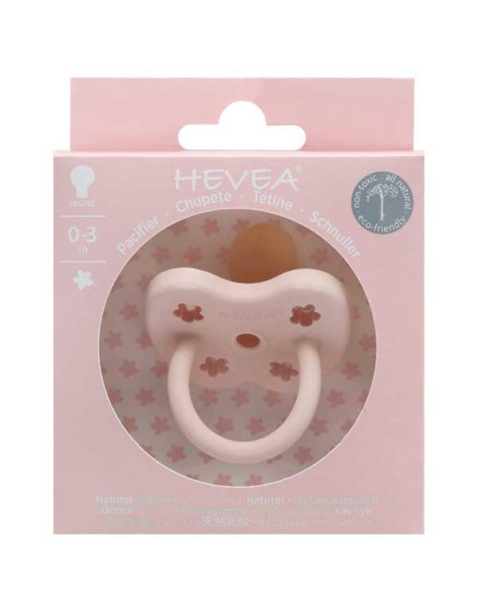 Hevea Hevea Speen Rond Powder Pink 0-3m @
