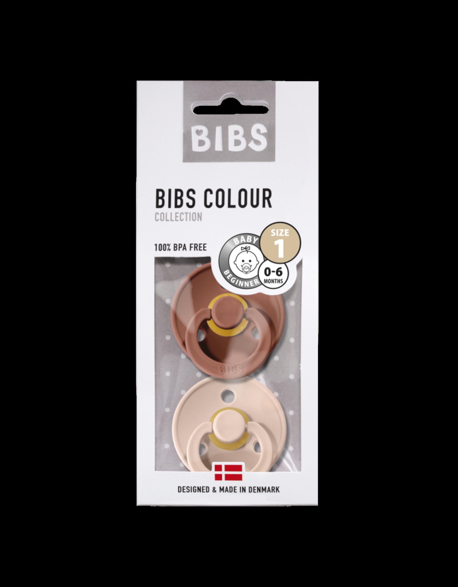 Bibs BIBS - Fopspeen Natuurrubber - Blister woodchuck/blush T1