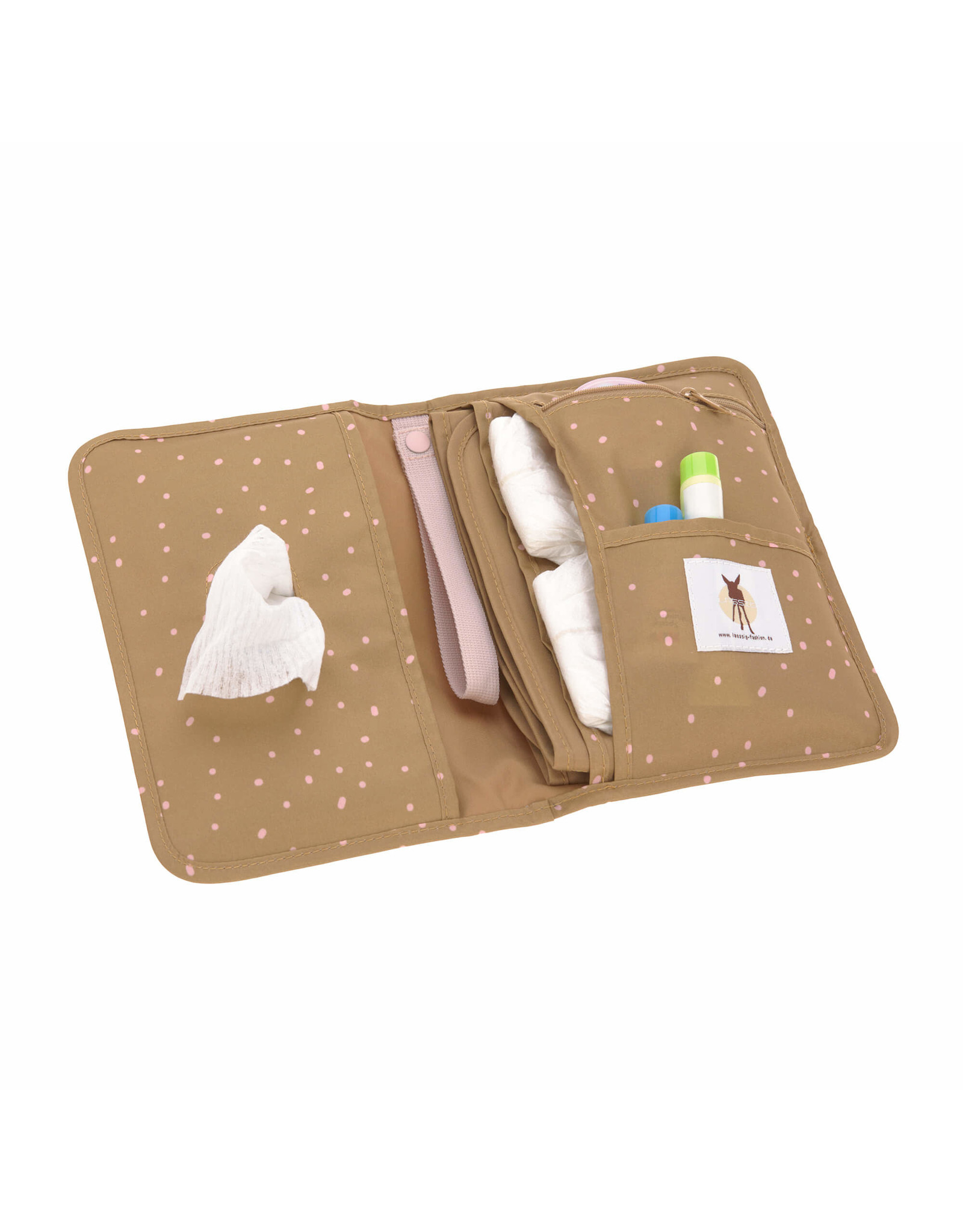 Lassig Lassig Casual Changing pouch dots curry