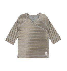 Lassig Lassig Kimono Shirt GOTS Striped Grey Mélange