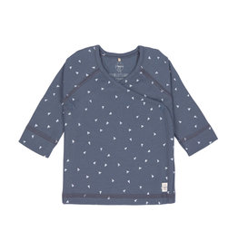 Lassig Lassig Kimono Shirt GOTS Striped Triangle Blue