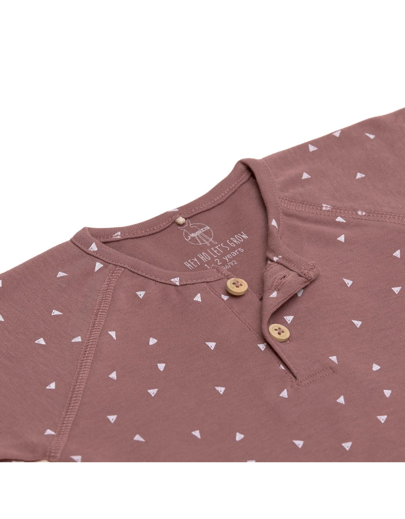 Lassig Lassig Long Sleeve Shirt GOTS Triangle Cinnamon 74/80, 7-12m