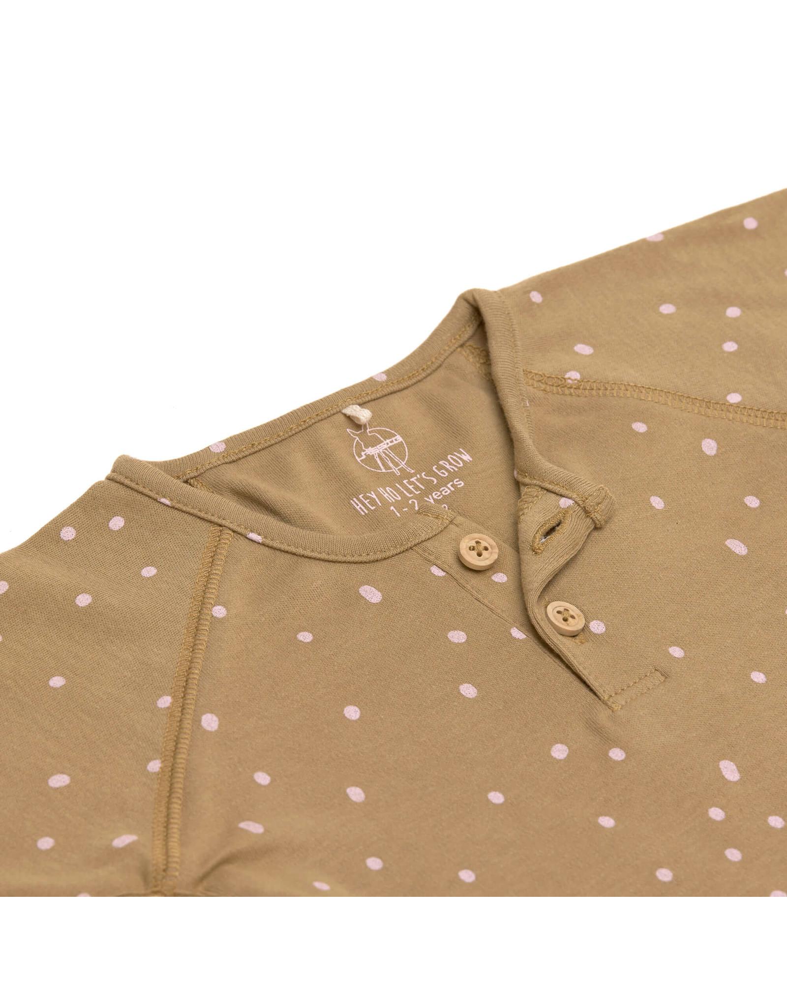 Lassig Lassig Long Sleeve Shirt GOTS Dots Curry 74/80, 7-12m