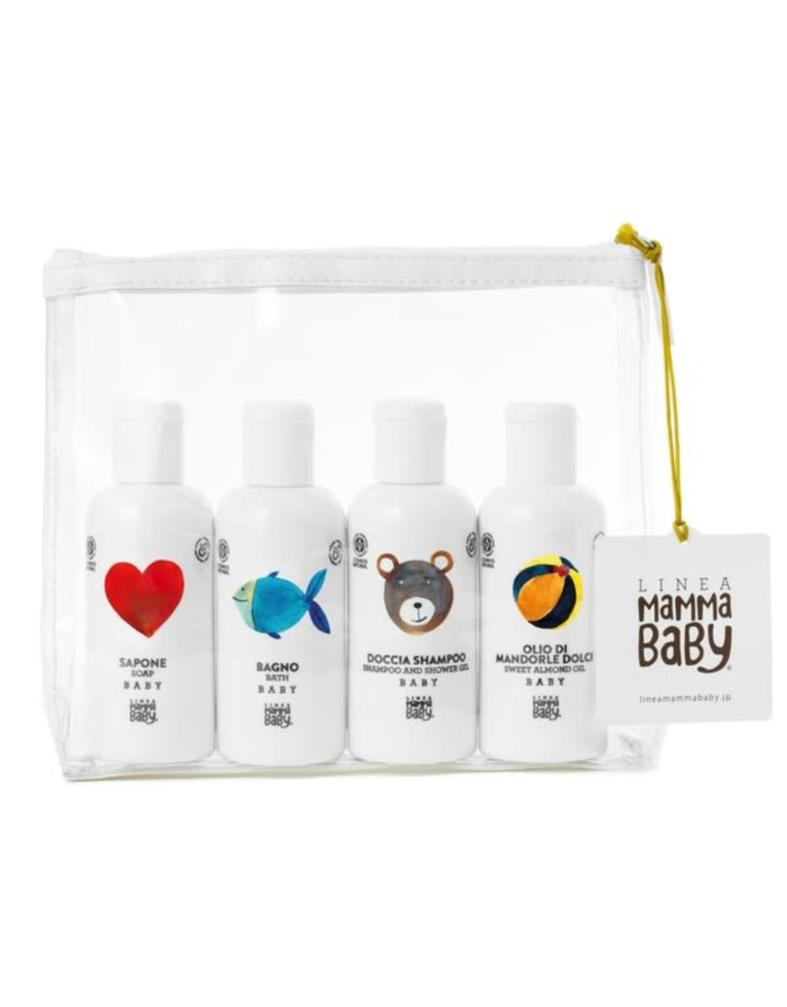 Linea MammaBaby Linea MammaBaby Travel set / Pochette Cosmos Natural 4x100ml
