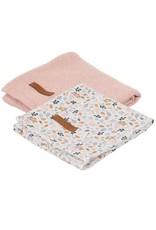 Little Dutch Little Dutch Swaddle 70x70 Pure Pink / Spring Flowers