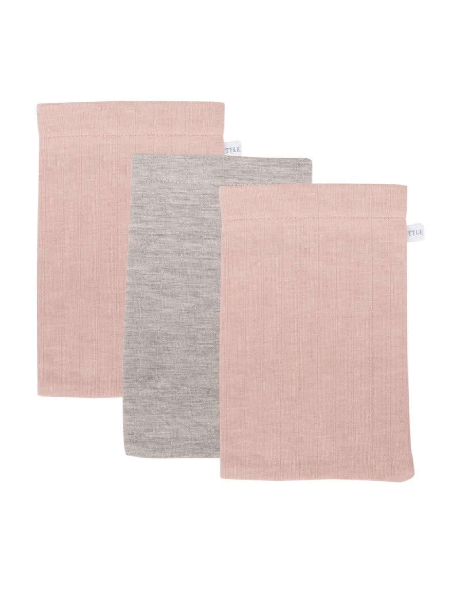 Little Dutch Little Dutch Washandjes Pure Pink / Grey