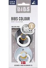 Bibs BIBS - Fopspeen Natuurrubber - Blister Iron / B.bleu T1
