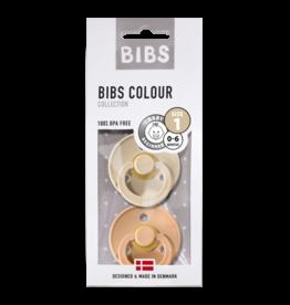 Bibs BIBS - Fopspeen Natuurrubber - Blister Vanilla/peach T1