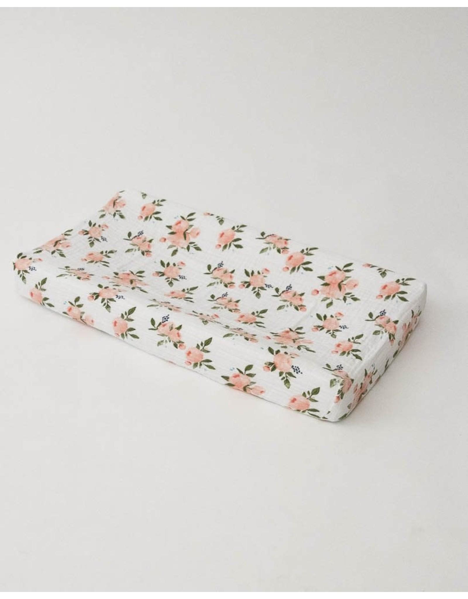 Little Unicorn Little Unicorn Changing pad Cover cotton muslin Aquarel Rozen