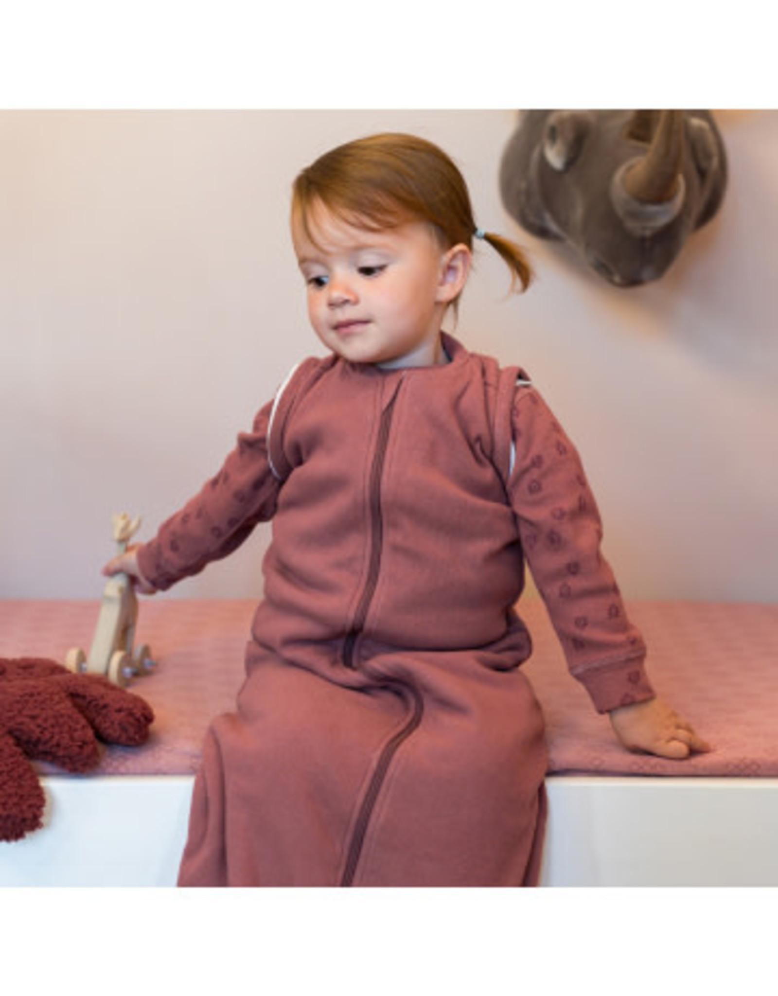 Lodger Lodger Winterslaapzak Baby Hopper Sleeves Nomad Rib Rosewood
