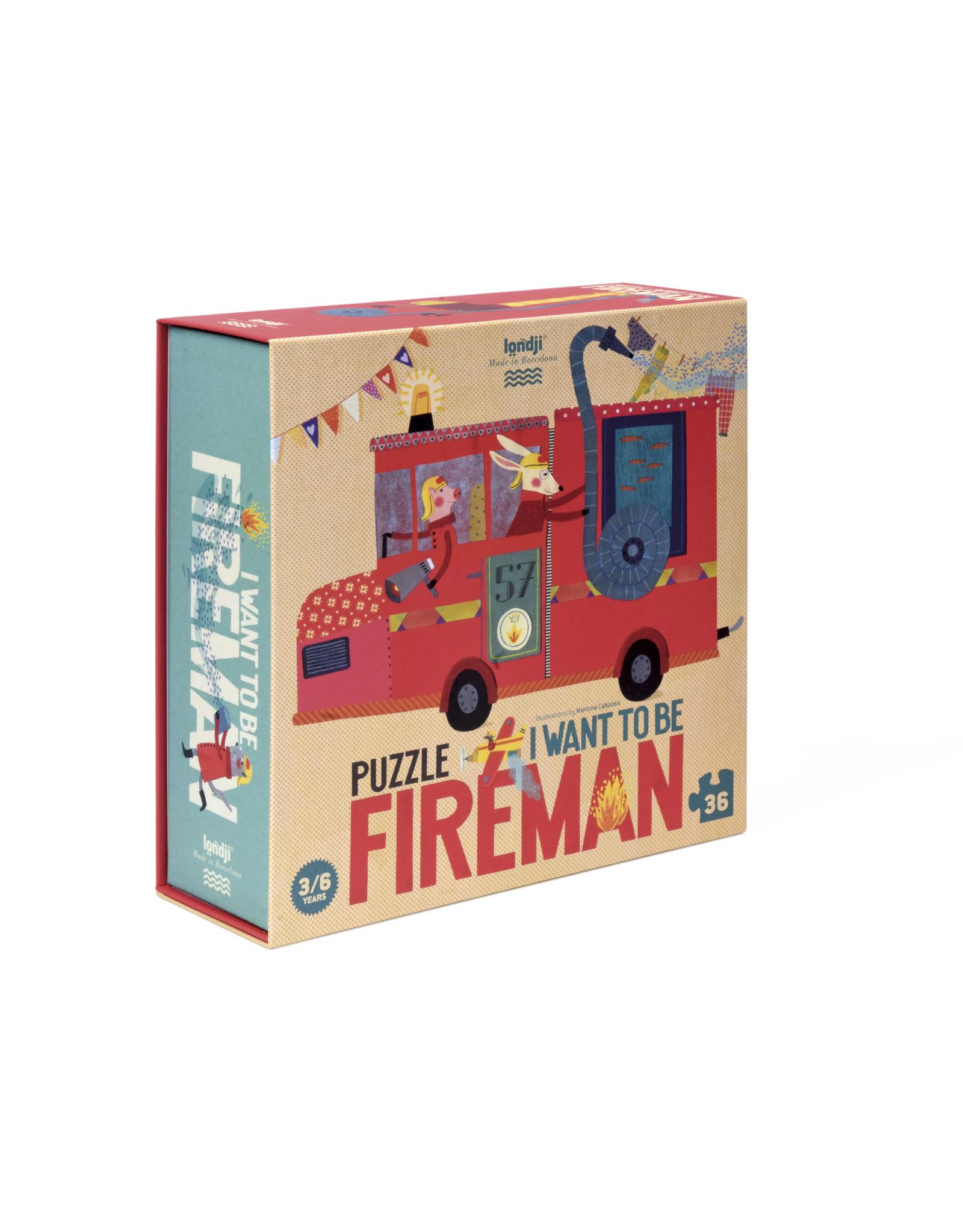 Londji Londji Puzzle - I want to be... Fireman