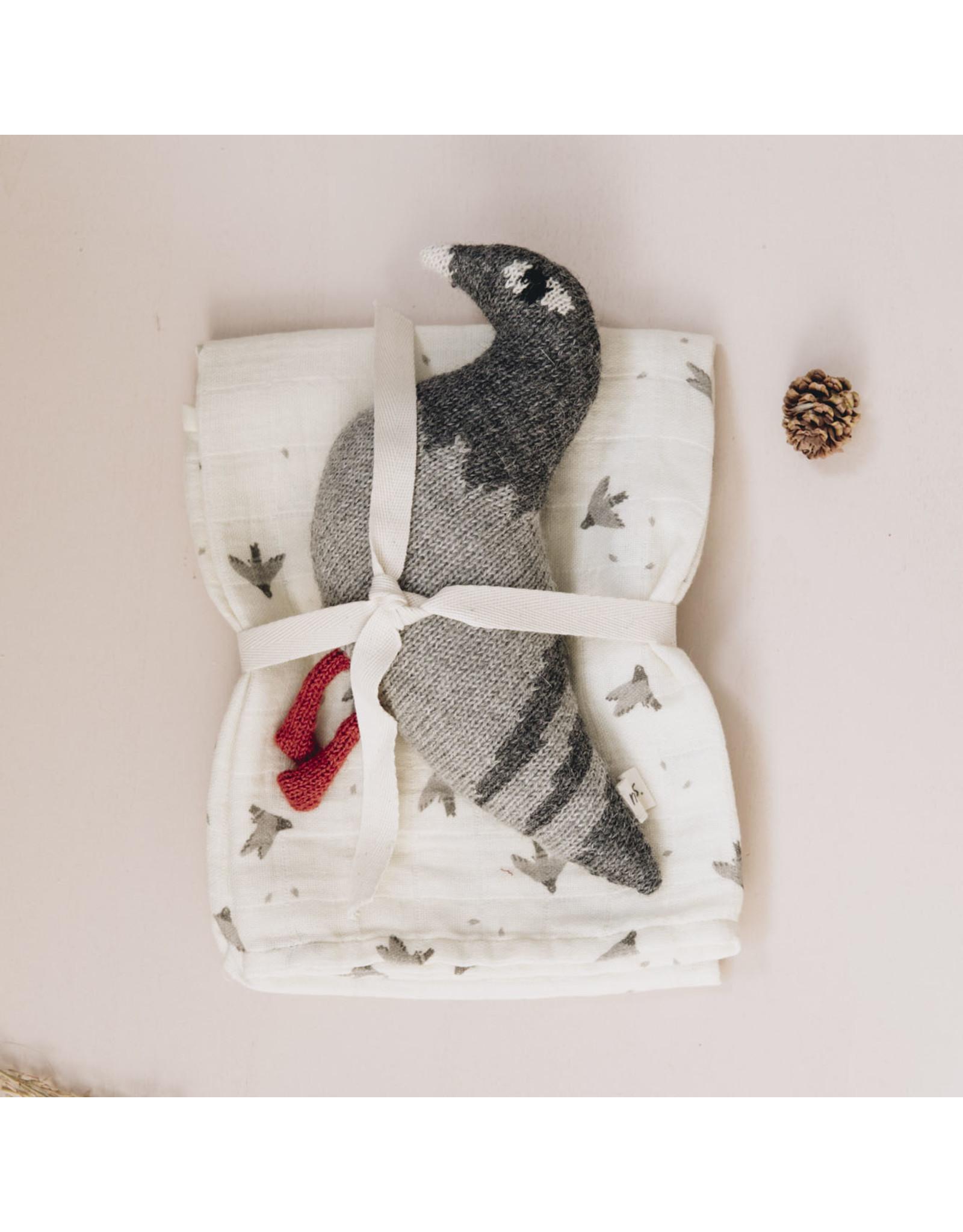 Main sauvage Main Sauvages Langes 70 x70 Pigeons Ecru