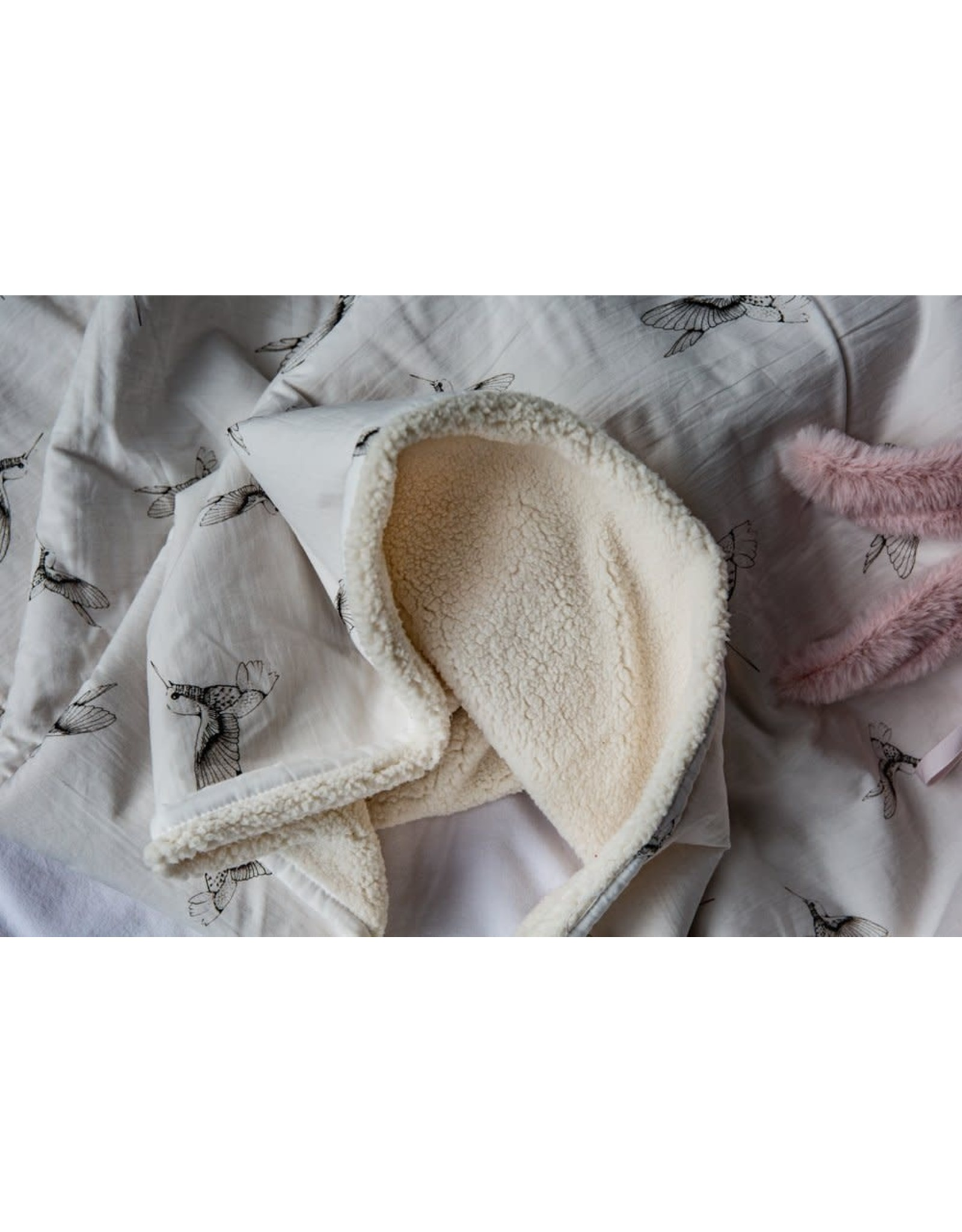 Mies & Co Mies & Co Baby Soft Teddy Blanket - Cloud Dancers Offwhite 70X100