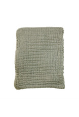 Mies & Co Mies & Co Soft Mousseline Blanket - Toddler Crib Thyme Green 110x140