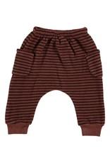 Beans Barcelona Beans Barcelona Striped Warm Fleece Pants With Pockets Tile