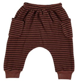 Beans Barcelona Beans Barcelona Striped Warm Fleece Pants With Pockets Tile