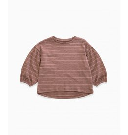Play Up Play Up striped rib sweater woodwork