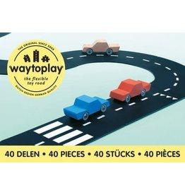 Way To Play Waytoplay Flexibele Autobaan King of The Road 40 Stuks