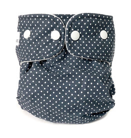 WeeCare WeeCare Overbroekje Dots Midnight Blue M (6-10kg)