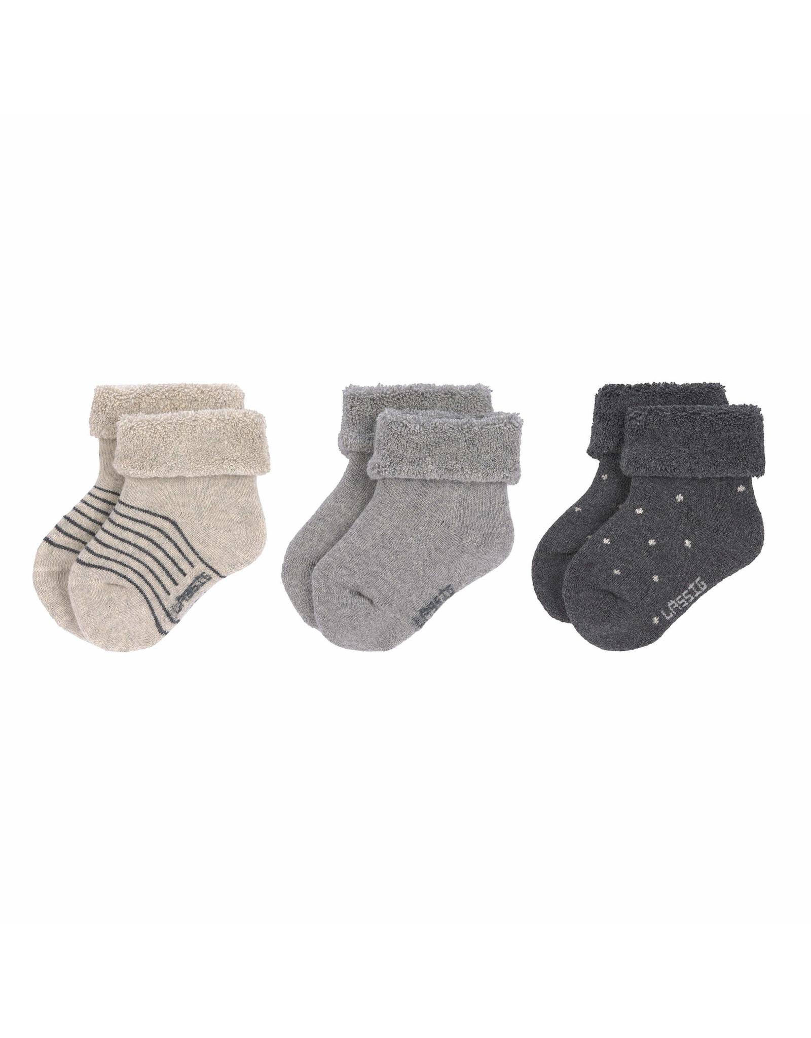 Lassig Lassig Newborn Socks 3pcs Grey