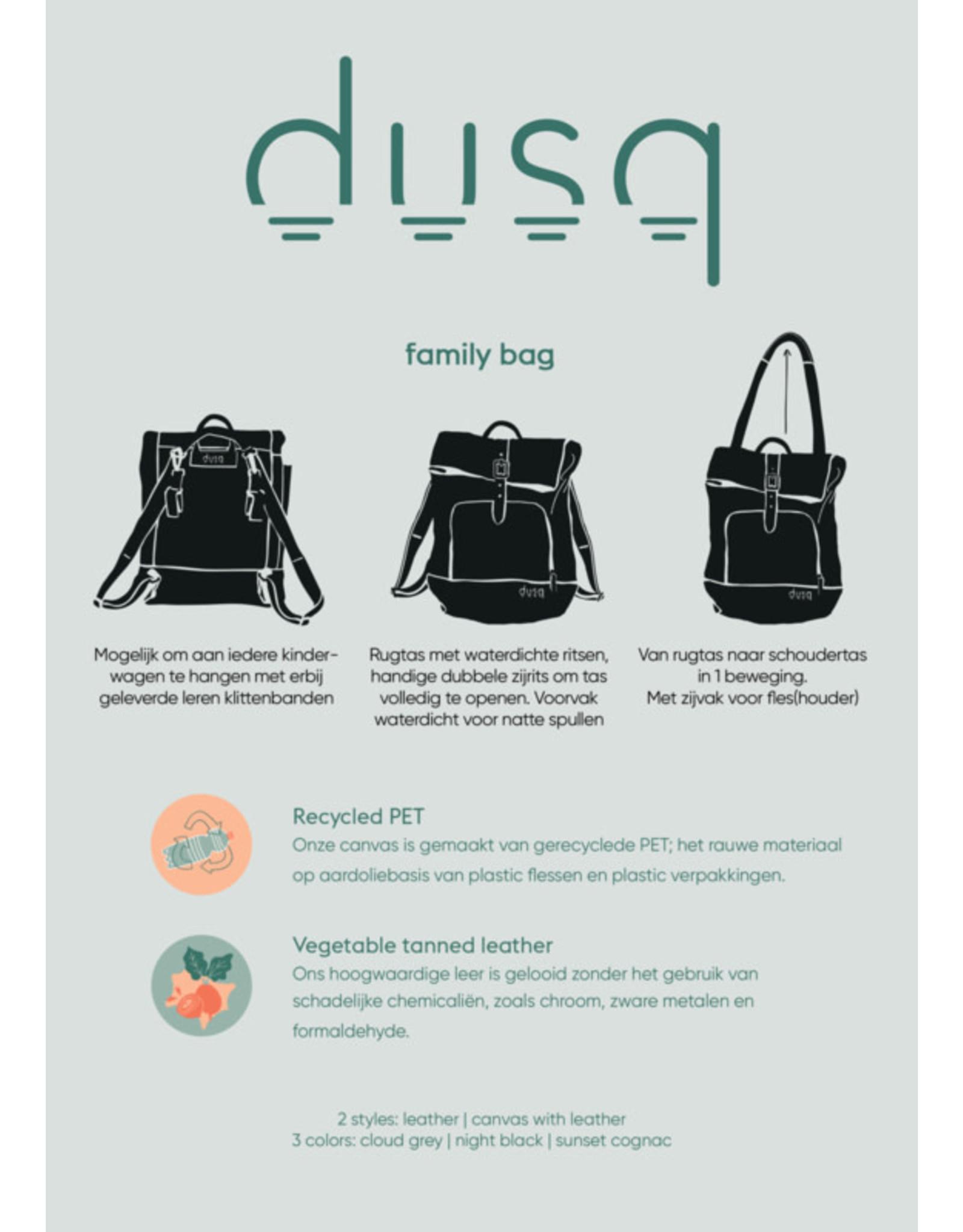 Dusq Dusq Family Bag Canvas Night Black
