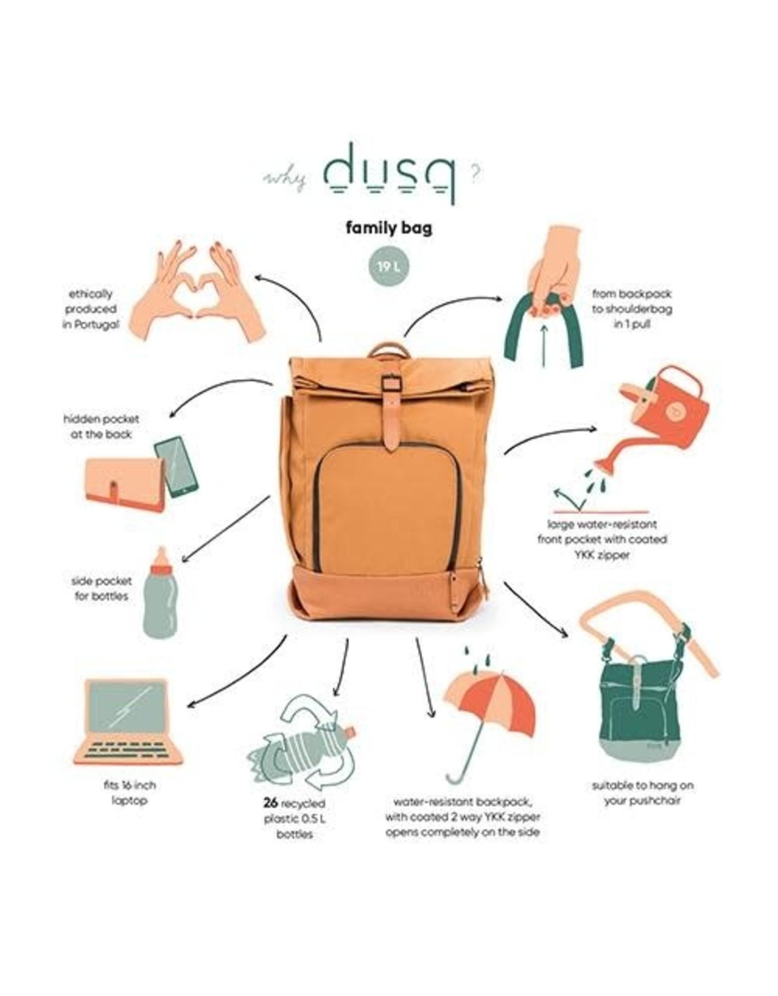 Dusq Dusq Family Bag Canvas Sunset Cognac