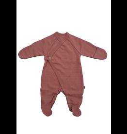 Forgaminnt Forgaminnt Pyjama met Voetjes (wrap) Ash Rose 0-3m