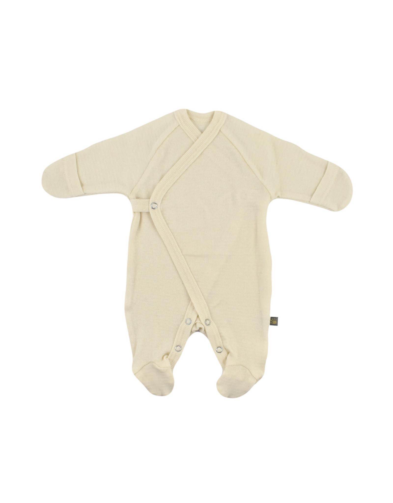 Forgaminnt Forgaminnt Pyjama met Voetjes (wrap) nature  0-3m