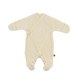 Forgaminnt Forgaminnt Pyjama met Voetjes (wrap) nature  0-3m @
