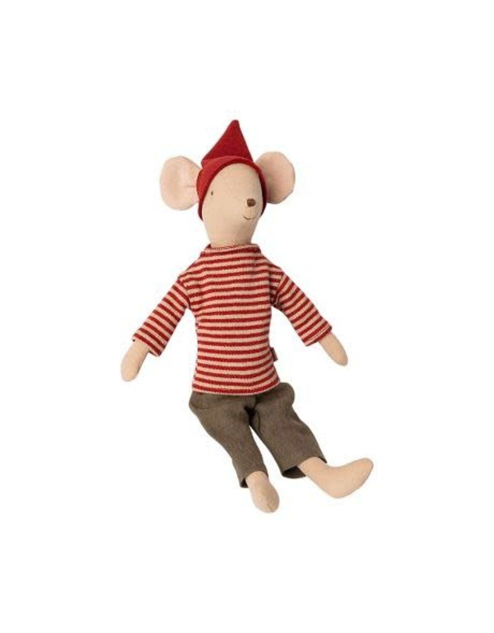 maileg Maileg Christmas Mouse Medium - Boy