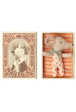 maileg Maileg Baby Mouse Sleepy Wakey in Box Girl