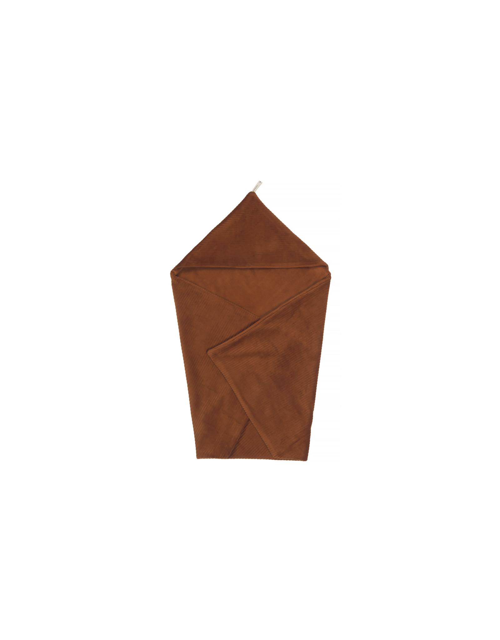 Nanami Nanami Wrapblanket Ribvelvet Caramel