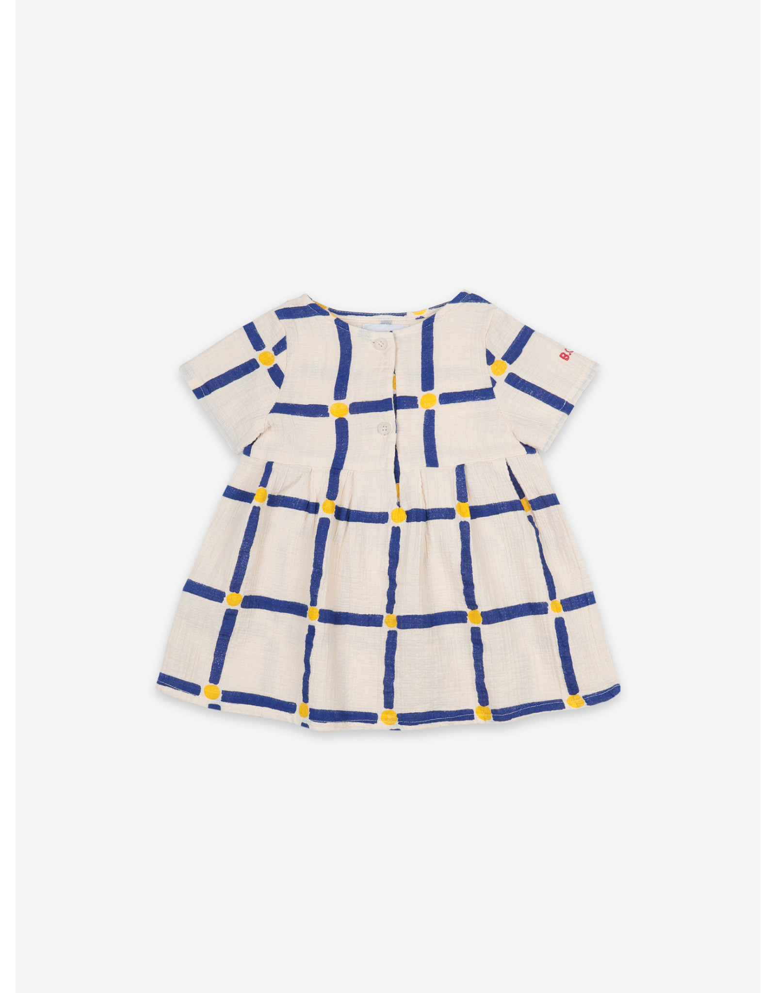 Bobo Choses Bobo Choses Cube All Over Buttoned Dress
