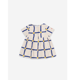 Bobo Choses Bobo Choses Cube All Over Buttoned Dress