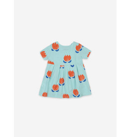 Bobo Choses Bobo Choses Chocolate Flowers All Over Buttoned Dress