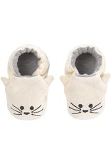 Lassig Lassig Baby Shoes GOTS Little Chums Cat, One Size
