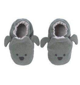 Lassig Lassig Baby Shoes GOTS Little Chums Dog, One Size