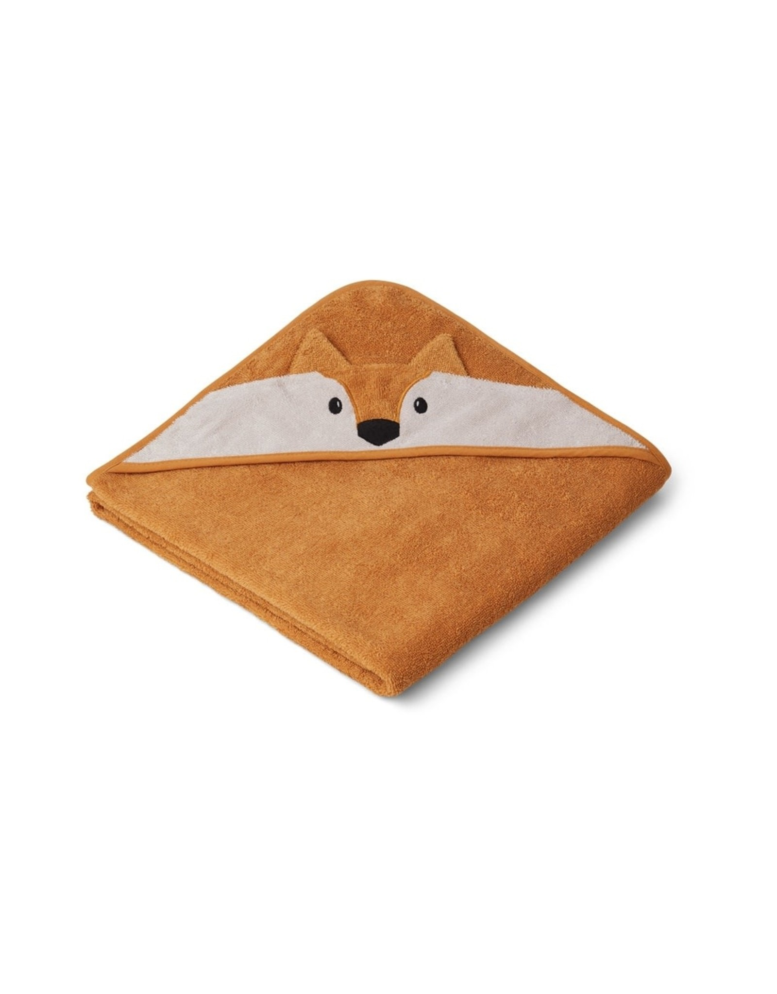 Liewood Augusta Hooded Towel - Fox Mustard