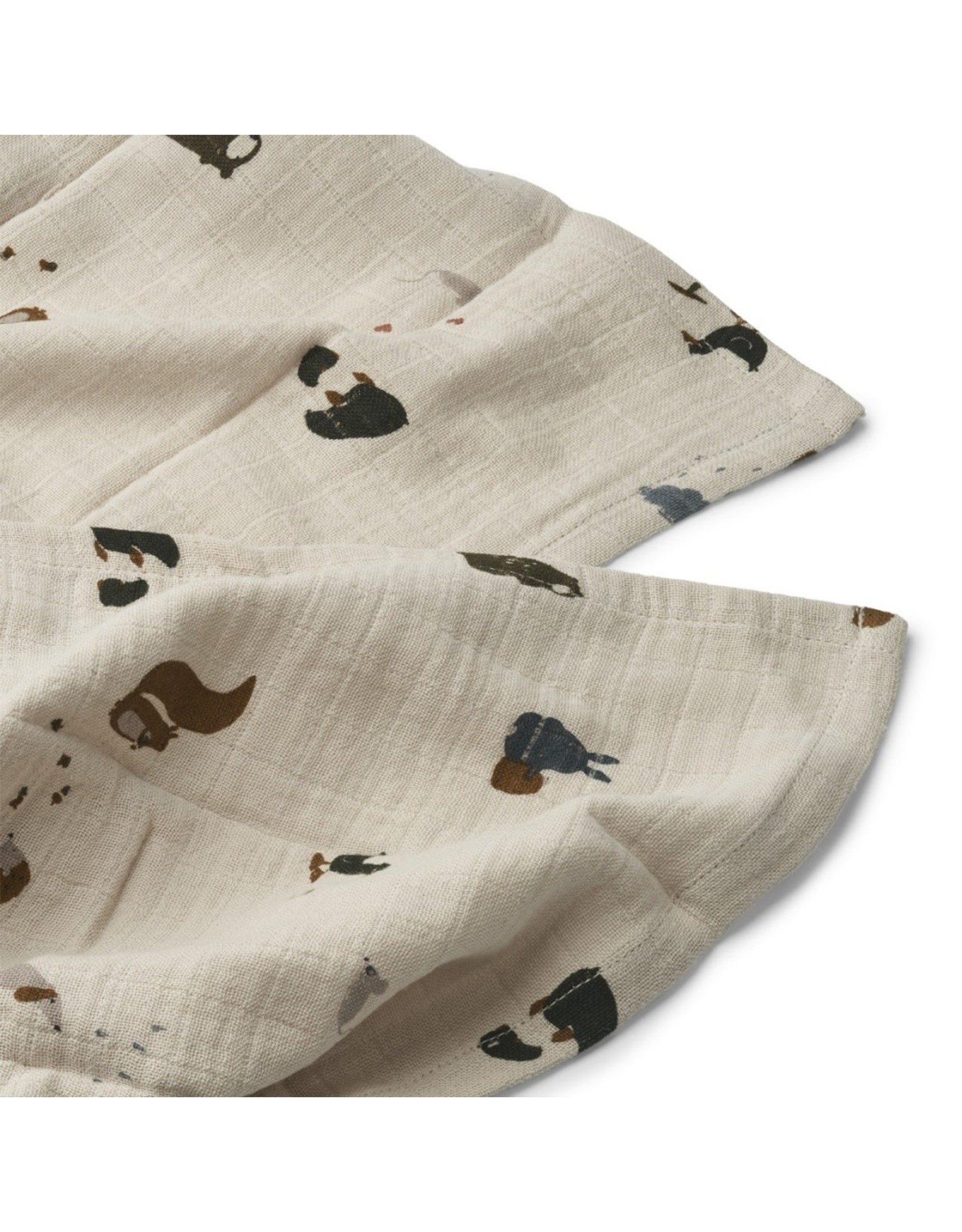 Liewood Lewis Muslin Cloth 2-pack Friendship Sandy Mix
