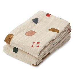 Liewood Lewis Muslin Cloth 2-pack Geometric Foggy Mix