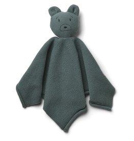Liewood Milo Knit Cuddle Cloth Mr Bear Whale Blue