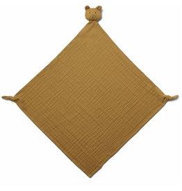 Liewood Robbie Multi Muslin Cloth Mr Bear Golden Caramel (60x60)
