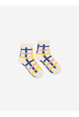 Bobo Choses Bobo Choses Blue Checkered Short Socks
