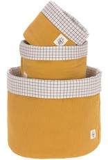 Lassig Lassig Storage Basket Set 3pcs Muslin Mustard