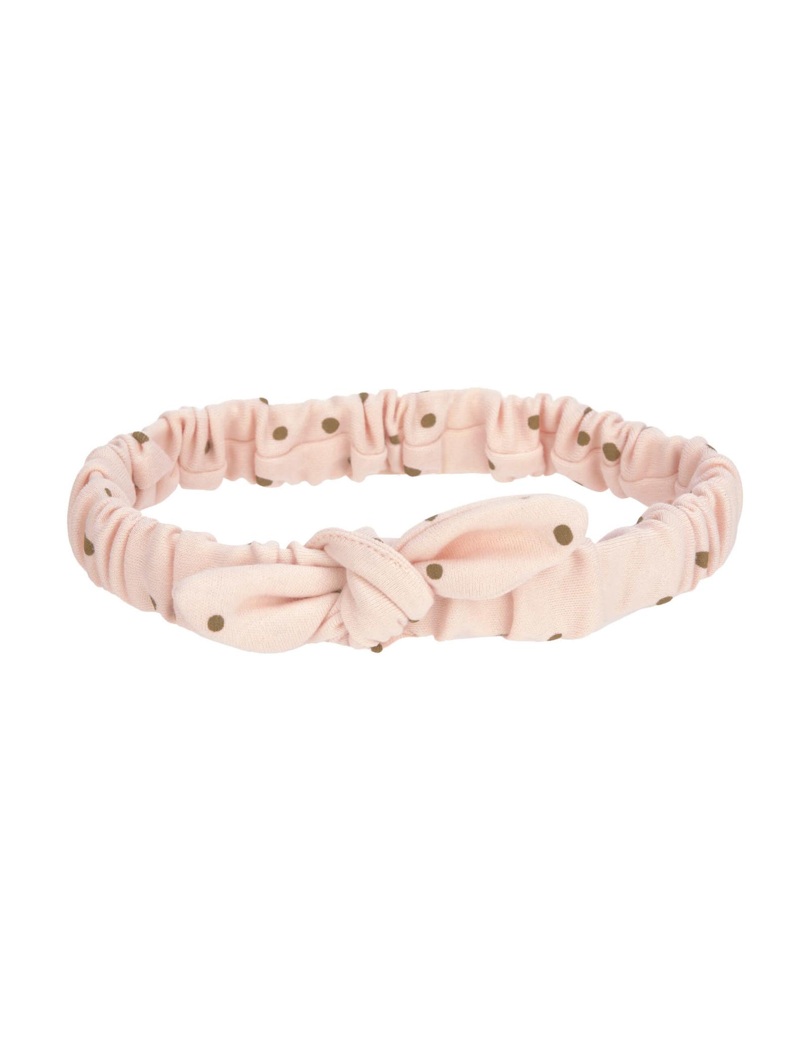 Lassig Lassig Head Band GOTS Dots Powder Pink 4-12m