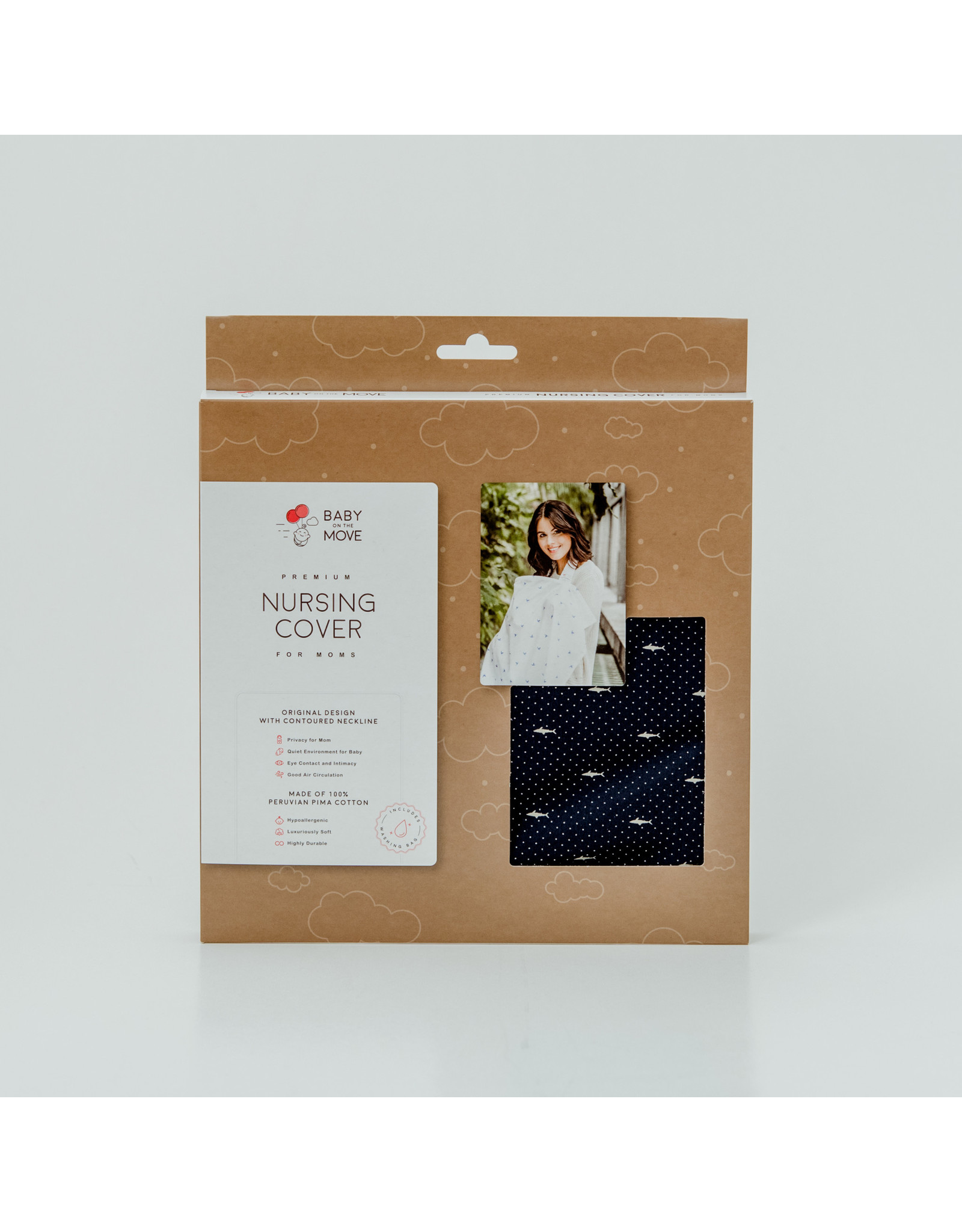 Baby On The Move Baby On The Move - Nursing Cover - Deep Blue